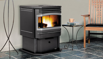 pellet burning stove